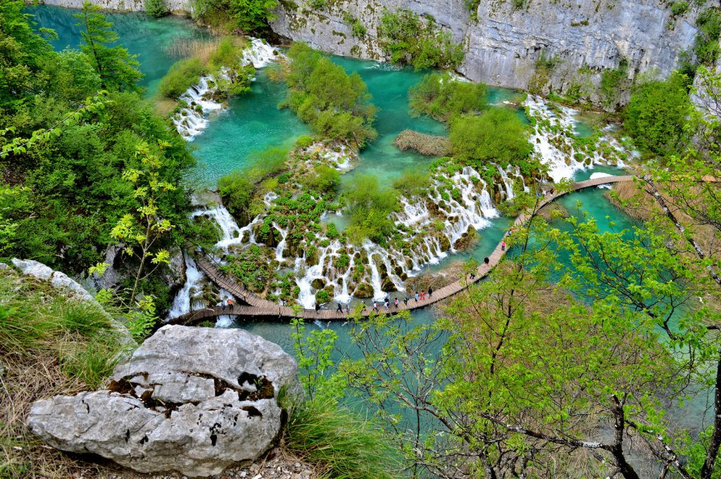 Plitvice Lakes from above (bird's eyeview)