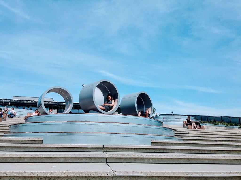 Rooftop of NEMO museum in Amsterdam