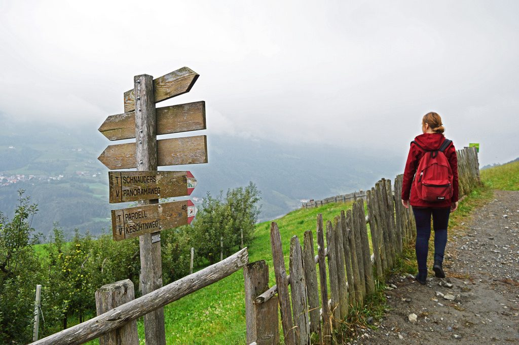 Walking the Chestnut Trail in South Tyrol