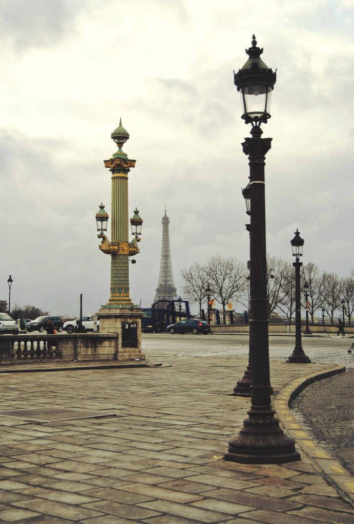 Place de la Concorde and the Eiffel tower in the distance