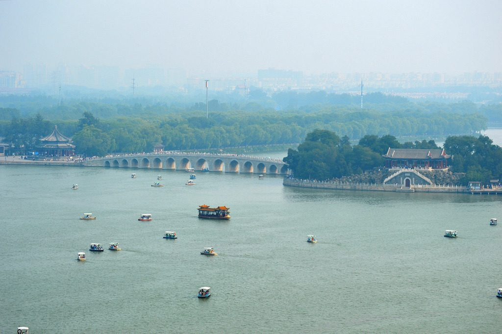 Kunming Lake at the old Summer Palace in Beijing