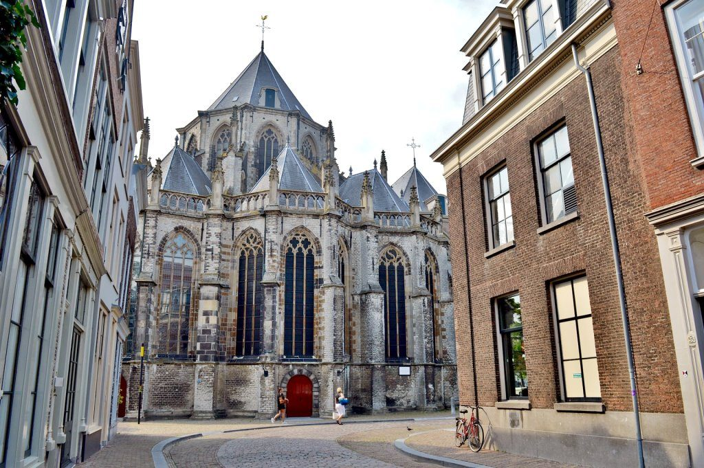 The historic church in Dordrecht, oldest city in Holland