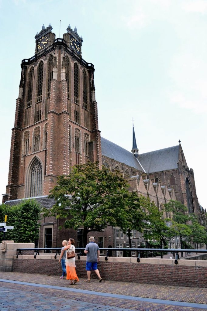 The historic church in Dordrecht