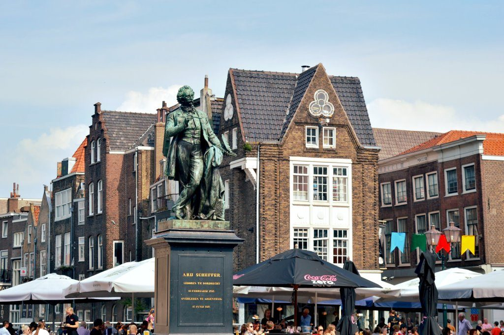 The main square in Dordrecht, oldest city in Holland