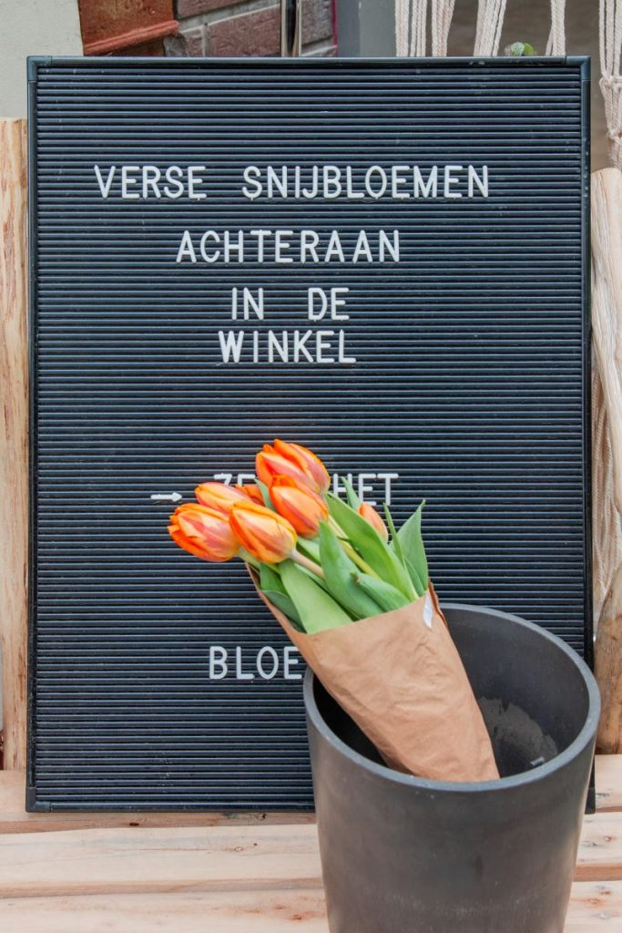 Florist Fleur de Lies sells flowers, like tulips