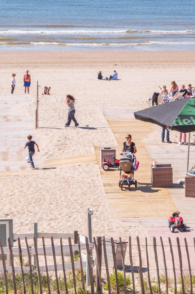 Zandvoort beach is a sandy haven on sunny days for young and old alike