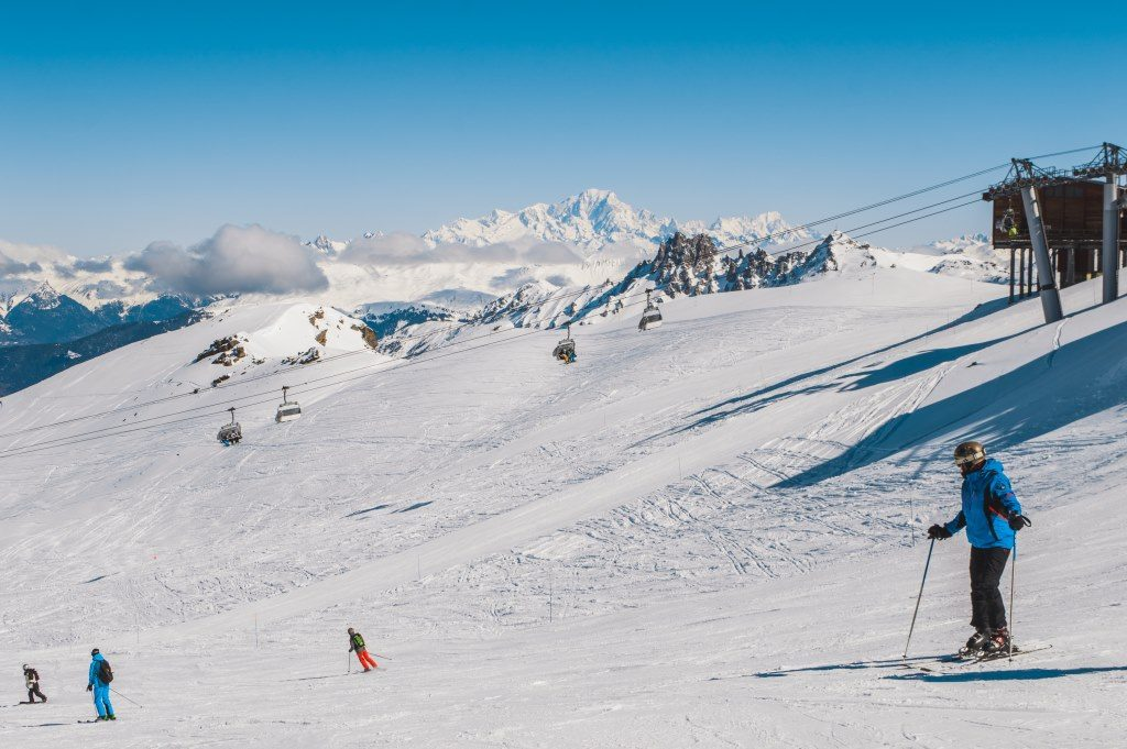 Skiing in the French Alps means you'll be able to enjoy the views of the mountains