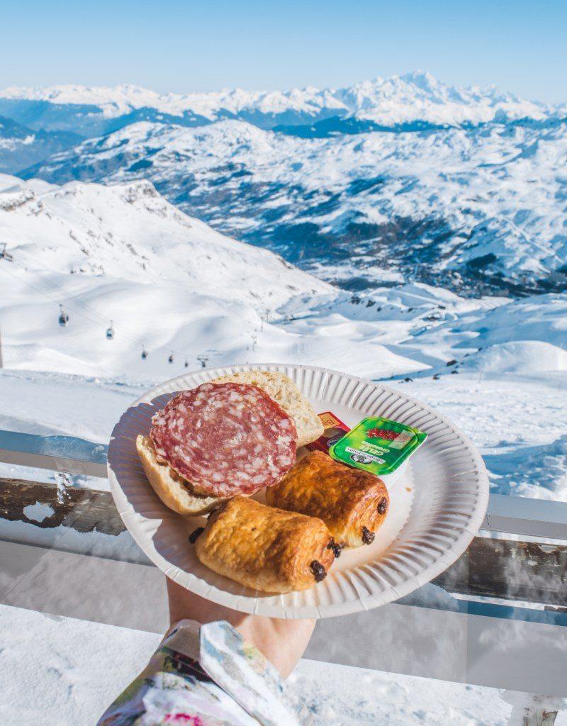 Breakfast at the top in Les Menuires is part of the First Track experience