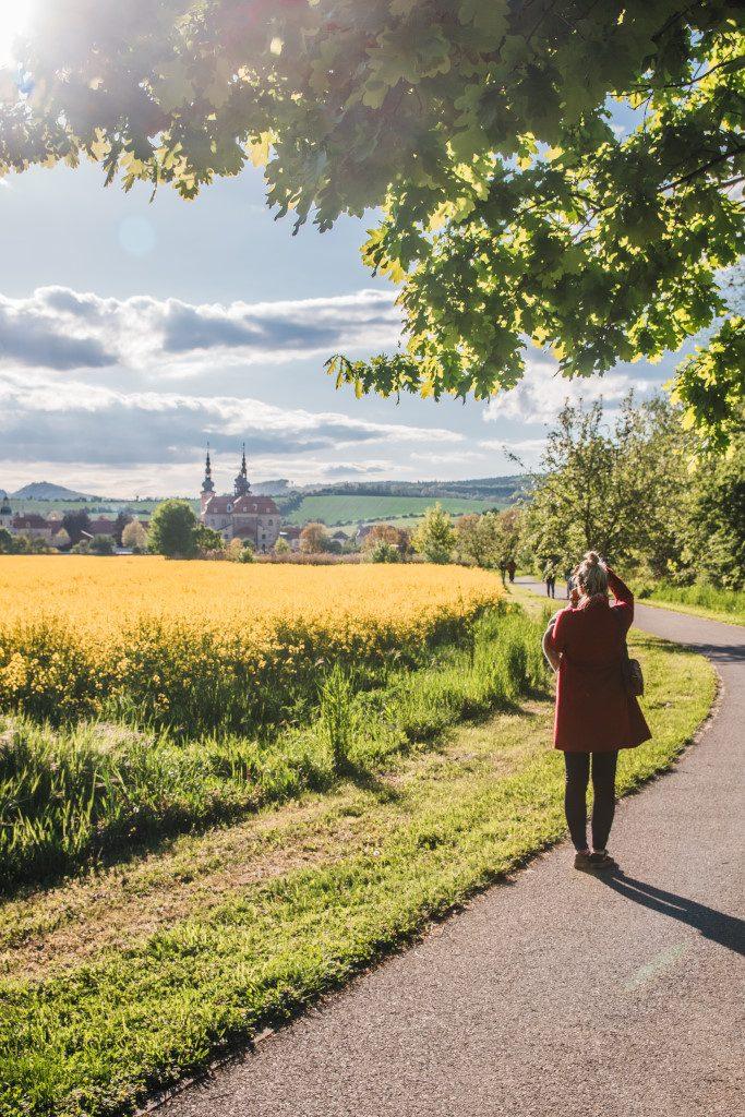Velehrad in spring, Moravia