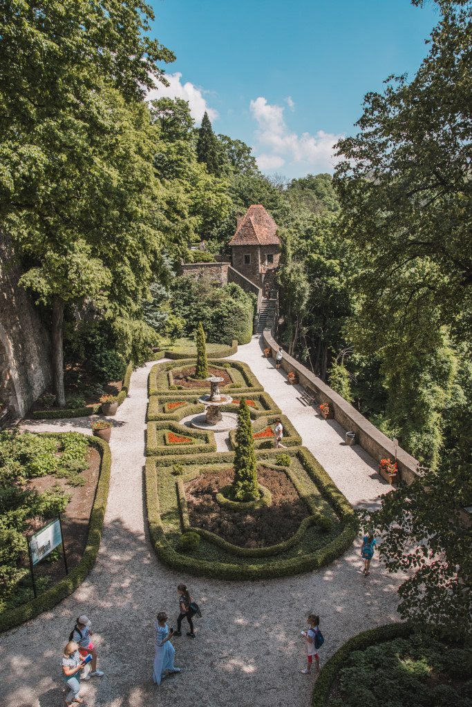 The landscaped garden of castle Ksiaz