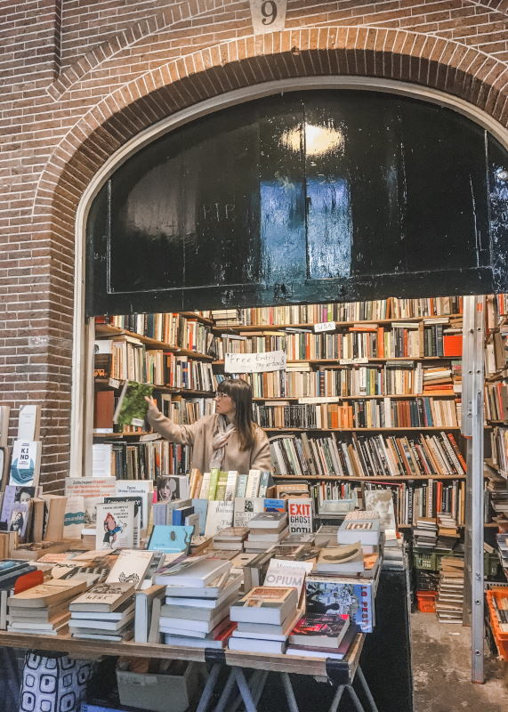 Book stalls at the historic Oudemanhuispoort in Amsterdam