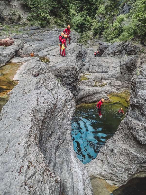 This is the best day trip from Salzburg for adventurers: go canyoning in Ebenau
