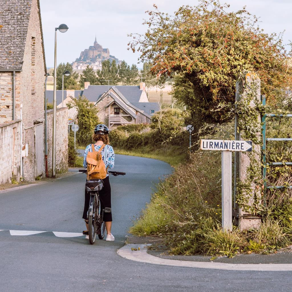 Cycling in Normandy, with the Mont Saint-Michel looming in the distance.
