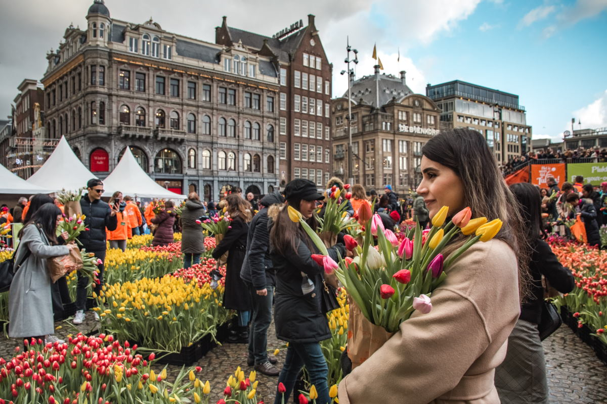 This is What National Tulip Day in Amsterdam Looked Like This Year